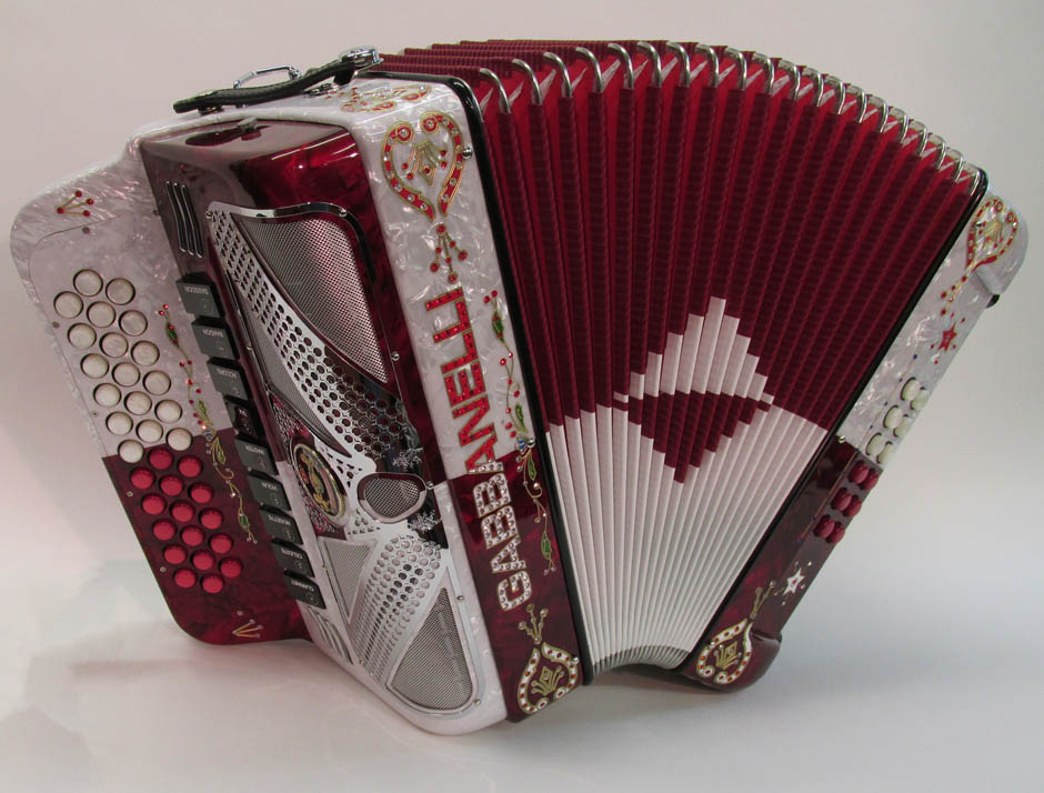 Gabbanelli M900 Red & White Pearl Checkered