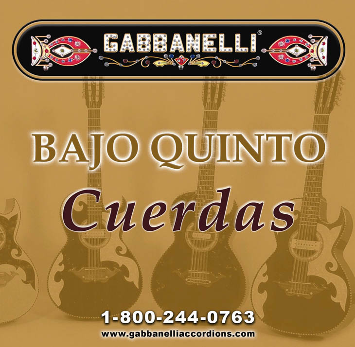 Bajo Quinto String-Golden Alloy